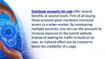 Buy facebook accounts to enjoy wider access