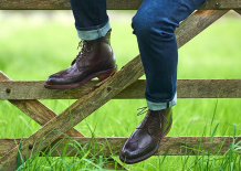 Classic men boots by Barker shoes.