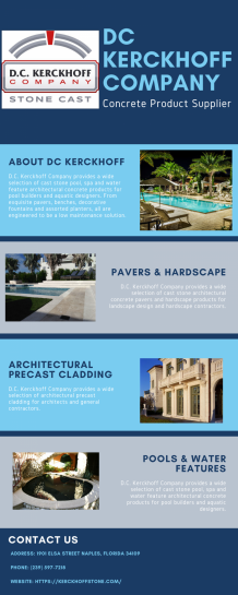 Cast Stone Concrete Products - DC Kerckhoff Company   Visual.ly