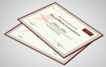 Custom Certificate Maker | Personalised Certificate Printing Online