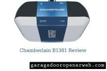 Chamberlain B1381 Review - Garage Door Opener | Best Price, Specs