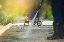 Pressure washing in Langley is better than traditional washing