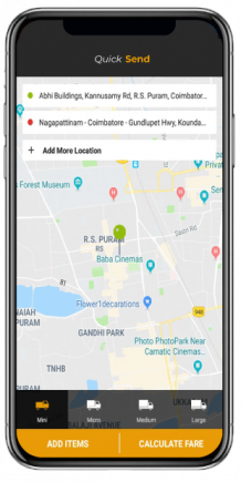Uber for courier Clone script with multi payment gateways