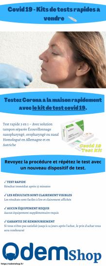 Covid 19 - Kits de Tests Rapides à Vendre   OdemShop