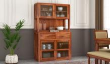 Darius Kitchen Cabinet (Honey Finish)
