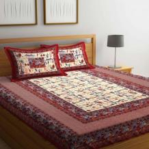 Jaipuri Bedsheets: Buy Jaipur Cotton Bedsheets Online @ best prices - WoodenStreet