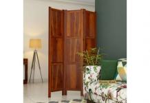 Room Partition Design: Best Wooden Partition Designs for home - Wooden Street
