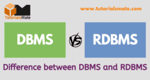 Difference between DBMS and RDBMS - TutorialsMate