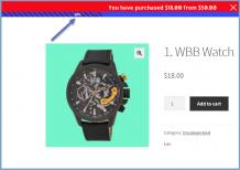 WooCommerce Free Shipping  Bar Plugin