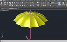 AutoCAD Tutorial | How to Draw Umbrella in AutoCAD