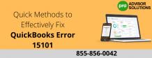 Quick Methods to Effectively Fix QuickBooks Error 15101 - Erica watson