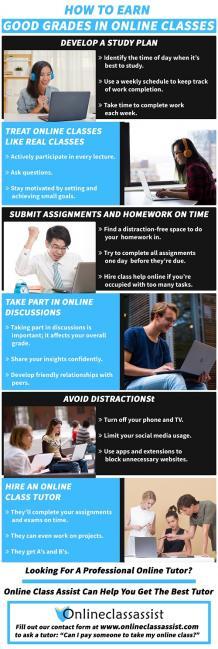 Earn Good Grades In Online Classes | Hire Class Help Online