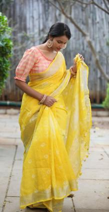 Adore linen sarees- Be cool in Hot summer