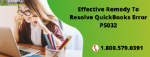 Effective Remedy To Resolve QuickBooks Error PS032 - Eweniversally Green