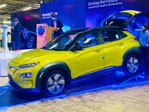 Picture of first electric car in Nigeria, named Hyundai Kona - KokoLevel Blog
