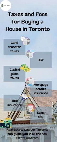 Taxes and Fees for Buying a House in Toronto