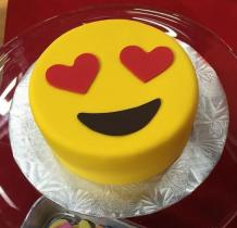 birthday love emoji cake