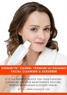 EvenSkyn® Cosmo: Premium Ultrasonic Facial Cleanser & Scrubber
