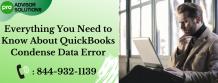 QuickBooks Condense Data Error