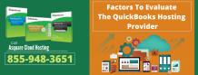 Factors To Evaluate The QuickBooks Hosting Provider - Asquare Cloud Hosting