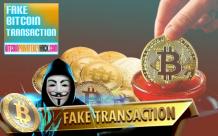 Send fake bitcoin transaction