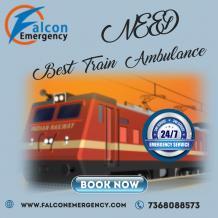 Falcon Emergency Train Ambulance Services in Patna and Delhi