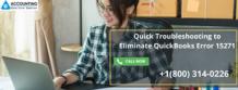 Quick Troubleshooting to Eliminate QuickBooks Error 15271