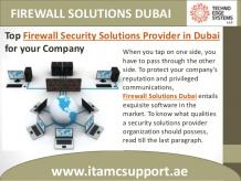 Firewall Security Solutions Provider in Dubai