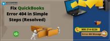 QuickBooks Error 404 Fix in Simple Steps (Resolved)