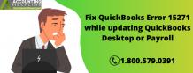 Complete solution for QuickBooks Error 15271