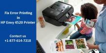 Fix Error Printing in HP Envy 4520 All-in-One Printer