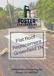 Flat Roof Replacement Greenfield IN