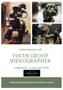 Focus Group Videographer New York NY