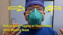 How to Avoid Fogging on Glasses while Wearing Mask