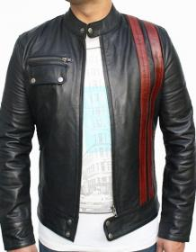 70s inspired Men Cafe Racer Leather Jacket | Leatherwins