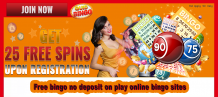 Free bingo no deposit on play online bingo sites – Delicious Slots