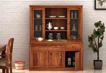 Galla Kitchen Cabinet (Teak Finish)