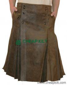 Gladiator Warrior Leather Kilt for Men