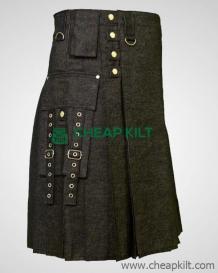 Fashionable Gothic Style - Denim Kilt for Men - Cheap Kilt