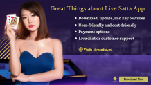 Great Things about Live satta app
