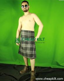 Hamilton Gray Tartan Kilt - Kilt For Active Men - Cheap Kilt