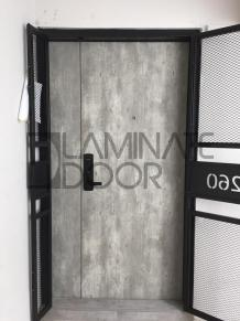 HDB Fire Rated Main Door Singapore- Pozzolan Concrete   Laminate Door