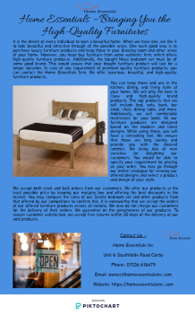 Home Essentials – Bringing You the High-Quality Furnitures