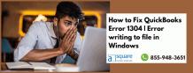 How To Rectify QuickBooks Error C=1304- (Solved)