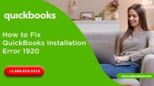 How to Fix QuickBooks installation Error 1920 - QBS Solved