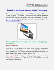 Gaming Laptop Rental Dubai