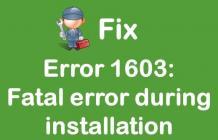 [Fixed] HP Printer Fatal Error Code 1603   +1-855-847-1975