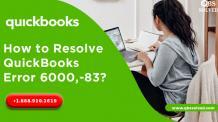 How to Fix QuickBooks Error 6000 83 – Easy Troubleshooting Steps