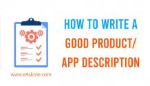 How to Write a Good Product/App Description eAskme   How to : Ask Me Anything : Learn Blogging Online