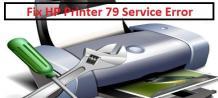 How to Fix HP Printer 79 Service Error.
